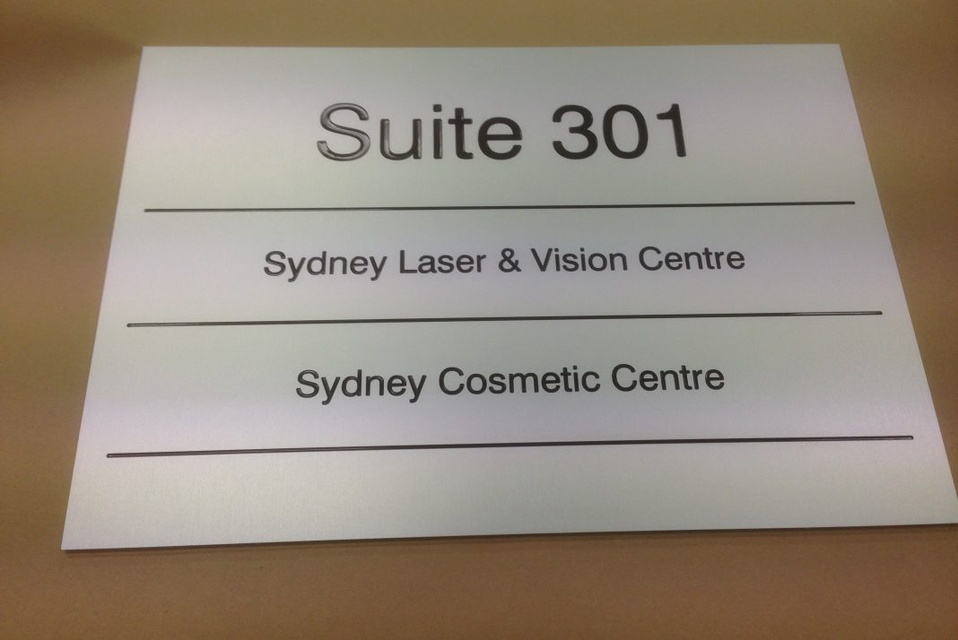 Engraved SNA Suite Sign
