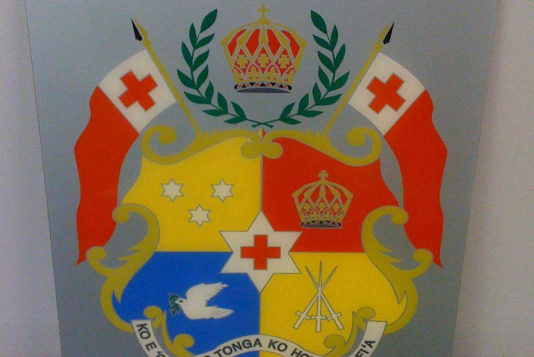 Engraved & Paint Filled Crest of Tonga