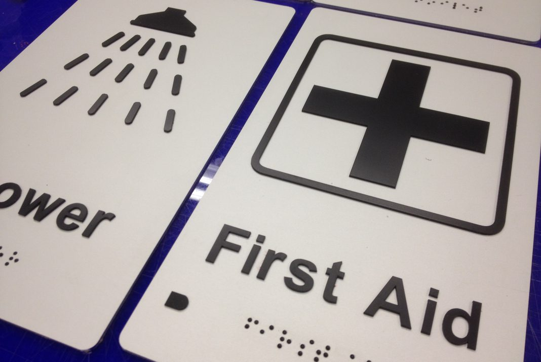 First Aid Braille Signs