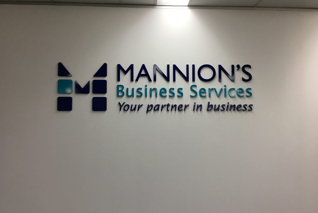 Perspex Laser Cut & Painted Reception Sign